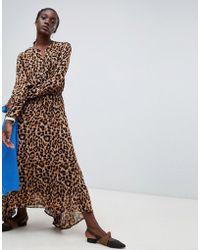 Essentiel Antwerp - Rus Leopard Midi Dress - Lyst
