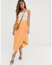 93d37b1f7d ASOS Midi Pencil Skirt In Jersey in Yellow - Lyst