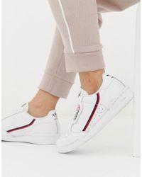 adidas Originals - White Continental 80 Trainers - Lyst