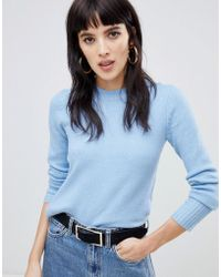 Warehouse - Cosy Crew Neck Jumper In Blue - Lyst