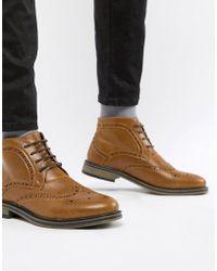 New Look - Brogue Boot - Lyst
