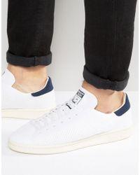 9e10b4b99ca adidas Originals - Stan Smith Og Primeknit Sneakers In White S75148 - Lyst
