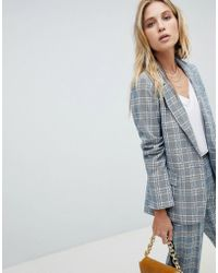 Oasis - Check Tailored Blazer - Lyst