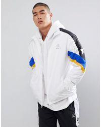 dfe0b161da4e Converse - Colour Block Track Jacket In White 10006473-a01 - Lyst