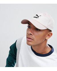 PUMA - Logo Cap With Taping In Pink Exclusive To Asos - Lyst