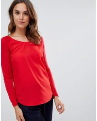 French Connection - Classic Crepe Raglan Long Sleeved T-shirt - Lyst
