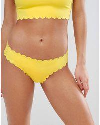 c47e920053af0 Missguided Scallop Bikini Bottom in Red - Lyst
