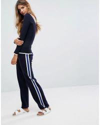 Micha Lounge - Stripe Knit Joggers - Lyst