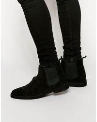 ASOS - Chelsea Desert Boots In Black Suede - Lyst