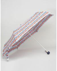 Cath Kidston - Minilite Umbrella In London Guards Print - Lyst