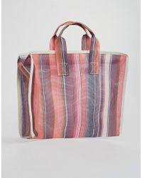 ASOS - Asos Pattern Mesh Shopper Bag - Lyst