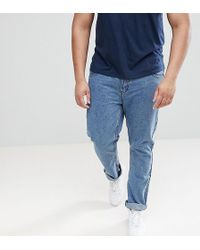 Loyalty & Faith - Loyalty And Faith Plus Regular Fit Jeans In Stonewash Blue - Lyst