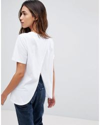 ASOS - Design T-shirt With Wrap Back - Lyst