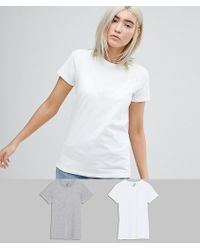 ASOS - Ultimate T-shirt With Crew Neck 2 Pack Save 15% - Lyst