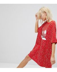 Monki - Gnome Dot Pyjama Night Dress - Lyst