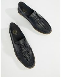 KG by Kurt Geiger - Kg By Kurt Geiger Woven Lace Up Shoes In Navy Leather - Lyst