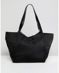 ASOS - Design Lightweight Shopper Bag With Double Compartments - Lyst