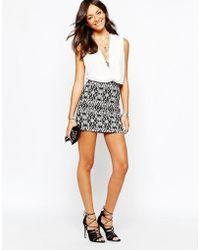 New Look - Aztec Printed Mini Skirt - Lyst