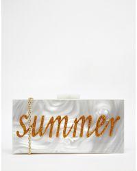 Nali - Summer Acrylic Clutch Bag - Lyst