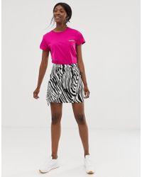 Gestuz - Siwra Abstract Zebra Stripe Wrap Skirt - Lyst
