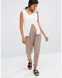 Glamorous - Harem Drop Crotch Sweat Trousers - Lyst
