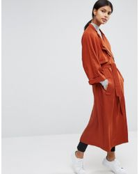 ASOS - Mac With Roll Back Sleeve And Double Collar Detail - Lyst
