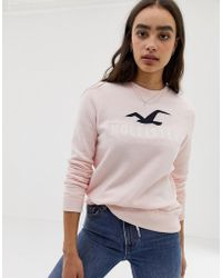 Hollister - Sweatshirt With Front Logo - Lyst