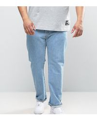 Levi's - Plus 501 Original Straight Fit Jean Light Broken In Wash - Lyst