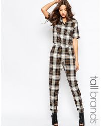 Noisy May Tall - Checked Boilersuit - Lyst