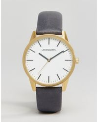 Unknown - Classic Navy Leather Watch 39mm - Lyst