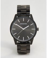 Unknown - Classic Bracelet Watch In Black 39mm - Lyst