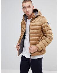 Napapijri - Aerons Hooded Quilted Jacket In Beige - Lyst