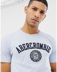 Abercrombie & Fitch - Chest Applique Logo T-shirt In Blue Marl - Lyst