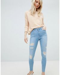 Miss Selfridge | Distressed Lizzie Jeans | Lyst