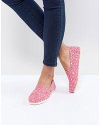 TOMS - Fuchsia Shibori Dots Alpargata Shoes - Lyst