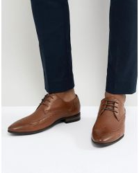New Look - Brogue With Embossed Detail In Tan - Lyst