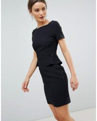 Zibi London - Capped Sleeve Pencil Dress With Pocket Detail - Lyst