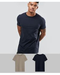 ASOS - Design Longline T-shirt 2 Pack Save - Lyst