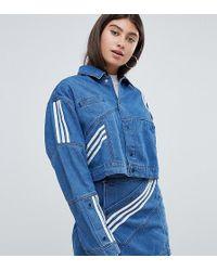 adidas Originals - X Danielle Cathari Diagonal Side Stripe Denim Jacket - Lyst