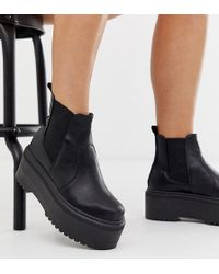 ASOS - Wide Fit Amplify Chunky Chelsea Boots - Lyst