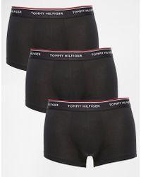 Tommy Hilfiger - Black 3 Pack Premium Essentials Trunks - Lyst