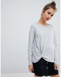 Blend She - Malou Tie Front Knit Jumper - Lyst