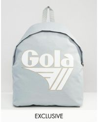 Gola | Exclusive Classic Backpack In Grey And White | Lyst