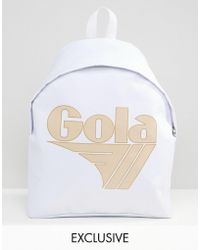 Gola | Exclusive Classic Backpack In White And Nude | Lyst