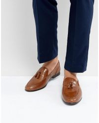 Red Tape - Tassel Loafers In Tan Leather - Lyst