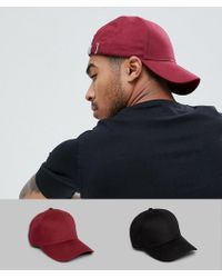 4e52ed85006168 Abercrombie & Fitch Logo Twill Baseball Cap In Burgundy in Red for ...
