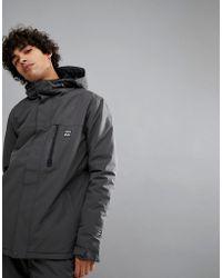 Billabong - All Day Snow Jacket In Dark Grey - Lyst