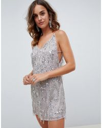 ASOS - Fringe Sequin Cami Mini Dress - Lyst