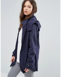 Ichi - Hooded Jacket - Navy - Lyst