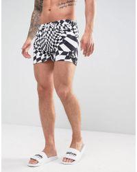 Jaded London - Swim Shorts In White Check - Lyst